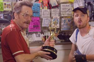 'breaking bad' stars reunite to run a seedy pawn shop for julia louis-dreyfus